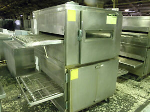 Lincoln Impinger 1000 Double Stack Nat Gas 32 Pizza Bread Baking Conveyor Oven