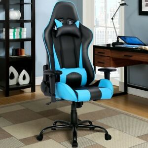 Office Playroom Chair Seat With Lumbar Support N Headrest High Back Racing