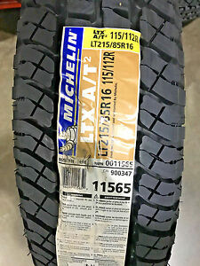 2 New Lt 215 85 16 Lre 10 Ply Michelin Ltx A T2 Tires