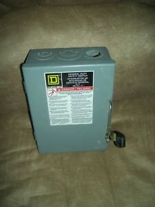 Square D Disconnect Du321 30 Amp 240 Safety Switch Fuse Type