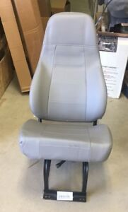 M2 Freightliner Force Semi Truck Gray Vinyl Non Air Ride Bucket Seat With Base