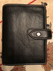 Filofax Pocket Malden Black Leather Planner Organizer Agenda