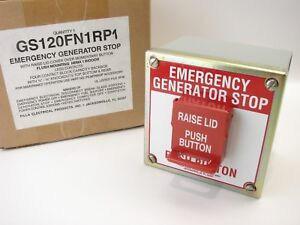 Pilla Gs120fn1rp1 Emergency Generator Stop With Lid Cover Nema 1 Momentary B503