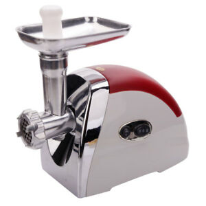 High Quality Electric Meat Grinder Mincer Sausage Stuffer Luxury Red 2000w Us