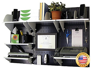 Wall Control Office Organizer Unit Wall Mounted Desk Storage And White Accessor