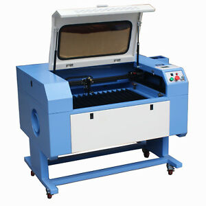 60w Co2 Laser Cutting Engraving Machine Usb High Precisio 700mm X 500mm Chiller