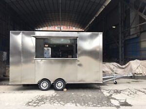 3 5m Stainless Steel Concession Stand Trailer Kitchen Refrigerator Ship By Sea