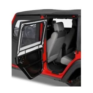 Bestop 51806 35 Rear Upper Fabric Doors For 2007 18 Jeep Wrangler Jk 2dr 4dr