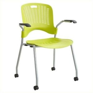 Pemberly Row Stack Guest Chair In Grass set Of 2