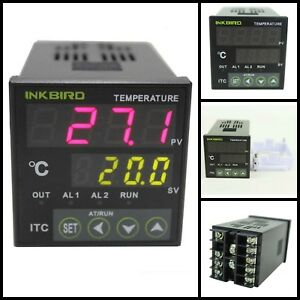 Digital Pid Temperature Controller On Off Thermostat Alarm Relay Output 12 24v