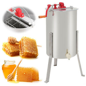Honey Extractor Stainless Two 2 Frame Tangential Manual Crank Spinner Beekeeping