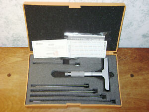 Mitutoyo 0 6 Inch Depth Micrometer Set No 129 132 W Case