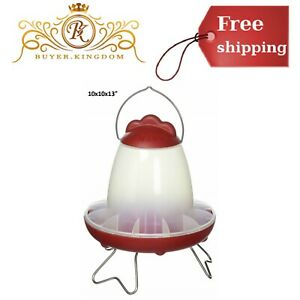 Poultry Essential Little Hen Waterer Drinker For Chicken Pullet Chicks Water Red
