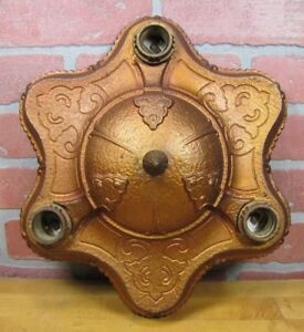 Antique Cast Iron Ceiling Light Fixture Decorative Arts And Crafts Gothic Lamp