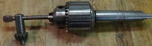 Atlas Craftsman 10 12 Metal Lathe Jacobs 2a Tailstock Drill Chuck Mt2 2mt
