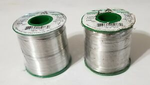 2lbs Aim Solder 025 63 tin 37 lead No Clean 2 Glow Core Flux 13308 New