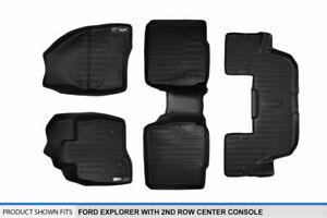 2015 2017 Explorer W 2nd Row Console Black Floor Mats 1st 2nd 3rd Row Liners