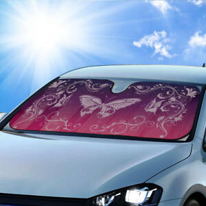 Purple Butterfly Car Auto Sun Shade Windshield Sunshade Blocks Uv Ray