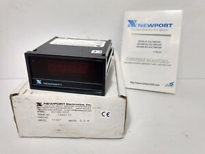Newport Ac Power line Monitor volt Meter Pn 201an ac5 115 Volts 3 5 Watts
