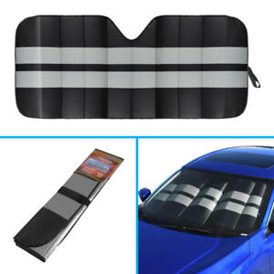Large Jumbo Double Layer Bubble Car Windshield Sun Shade Cover Block Black Gray