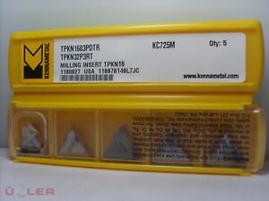 10x Kennametal Tpkn 1603pdtr Kc 2378 7 12ft Indexable Inserts Carbide Inserts