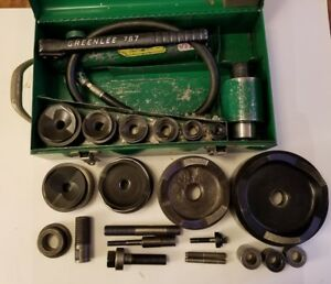 Huge Greenlee Knockout Set 1 2 5 With 767 Pump And 746 Ram