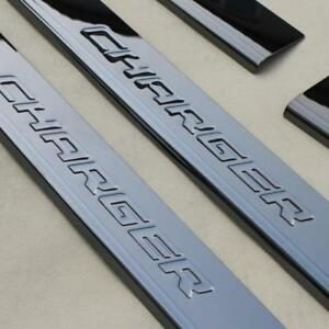 Dodge Charger Logo Black Anodized Stainless Steel Door Sill Sill Guards Us Stock