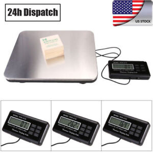 660lbs Lcd Ac Digital Floor 300kg Weigh Bench Scale Postal Platform Shipping Wz