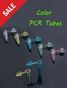 Pcr Tubes Flat Caps Plastic Test Vials Sample Tubes Taq Dna Polymerase Pink