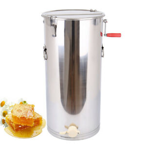 Large 2 Frame Honey Extractor Beekeeping Equipment Manual Stainless Steel