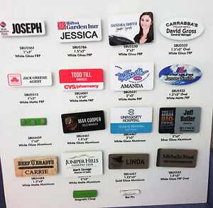 2x3 Personalized Name Tag Badge Pin Customized Sublimated Full Color Printing
