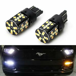 No Hyper Flash Switchback Led Turn Signal Light Bulbs For 15 up For F150 Mustang