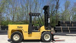 Yale Gdp155 Pneumatic Forklift Lift Truck Hi Lo Fork 15 500lb Capacity yale