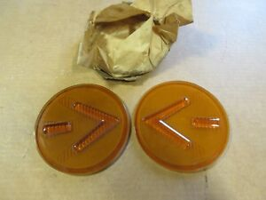 Nos Vintage Kd Arrow Turn Signal Lenses Ford Dodge Power Wagon Chevy Ford Ih Reo