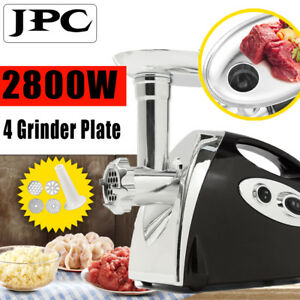 2800w Electric Meat Grinder 4pcs Stainless Steel Plates Sausage Filler Maker