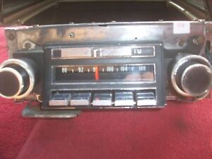 1966 Buick Electra 225 Lesabre Oem Delco Am fm 2 Speaker Radio Serviced 7293634