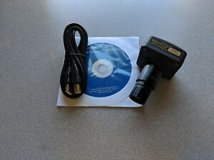 Amscope Mu800 Mu 800 Digital Microscope Usb 8mp Video Photo