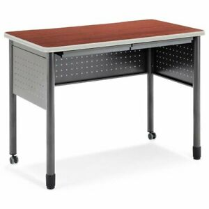 Bowery Hill 47 25 Mobile Standing Desk In Cherry