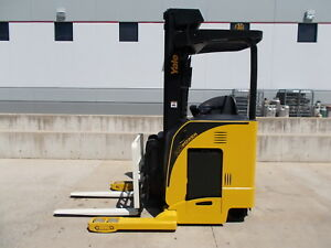 2012 Yale Ndr030ea Electric Deep Reach Truck Narrow Aisle Forktruck Forklift