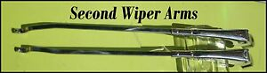 Corvette 1953 1954 1955 Wiper Arms Restored Chrome Seconds Webs On Joints