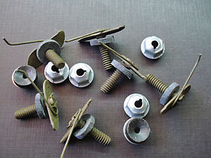 6 Pcs 1958 Chevy Bel Air Sport Coupe Side Moulding Clips Sealer Nuts Nos 3768392