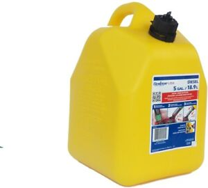 5 gallon Plastic Diesel Fuel Can Spill proof Spout Automotive Gas Container New