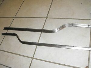 1966 Plymouth Barracuda Rear Folding Seat Back Stainless Trim Pieces