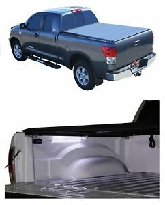 Truxedo Deuce Black Vinyl Tonneau Cover Access Aa Battery Light For Tundra