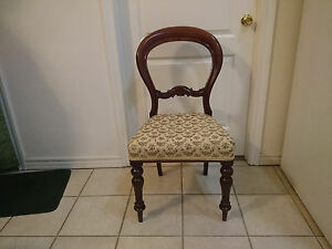 Rococo Style Antique Mahogany Balloon Back Parlor Chair