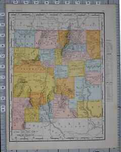 1906 Map United States New Mexico Counties Cities Guadaloupe Albuquerque