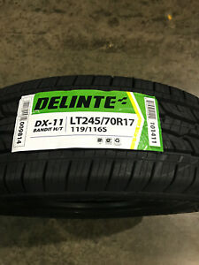 4 New Lt 245 70 17 Lre 10 Ply Delinte Dx 11 Bandit H T Tires