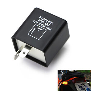 2 Pin Electronic Led Flasher Relay Fix For Turn Signal Light Fast Hyper Flash