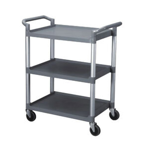 Bus Cart 3 tier With Casters Grey Catering Transport Bins Restaurant Buffet