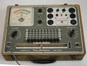 Superior Instruments Tv 12 Trans conductance Tube Transistor Tester